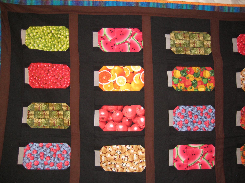 Fruit Mason Jar Quilt | Crafts by Design : jar quilts - Adamdwight.com